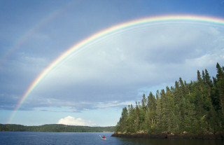 Rainbow Kayaker