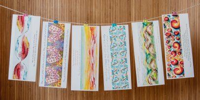 Metta Cards on String