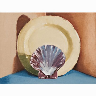 Shell and Plate Pastel Painting_SHOP