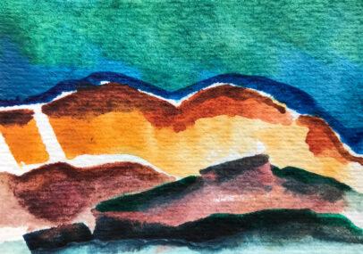 Twilight On Red Rocks