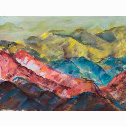 Waves of Mountains Pastel Painting_SHOP