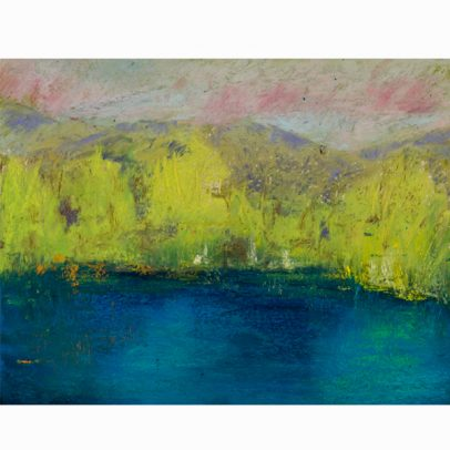 Willowtail Pond Pastel Painting_SHOP